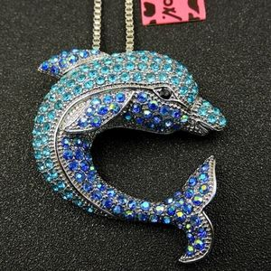 Betsey Johnson Dolphin Necklace